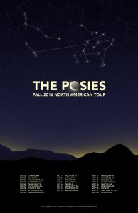 The Posies Solid States US Fall Tour Poster by Brian Matthew Hart